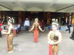 Traditional Javanese court dancers