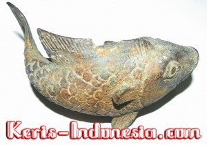 Ancient Goldfish statue from the 13th Century Javanese Kingdom of Singosari